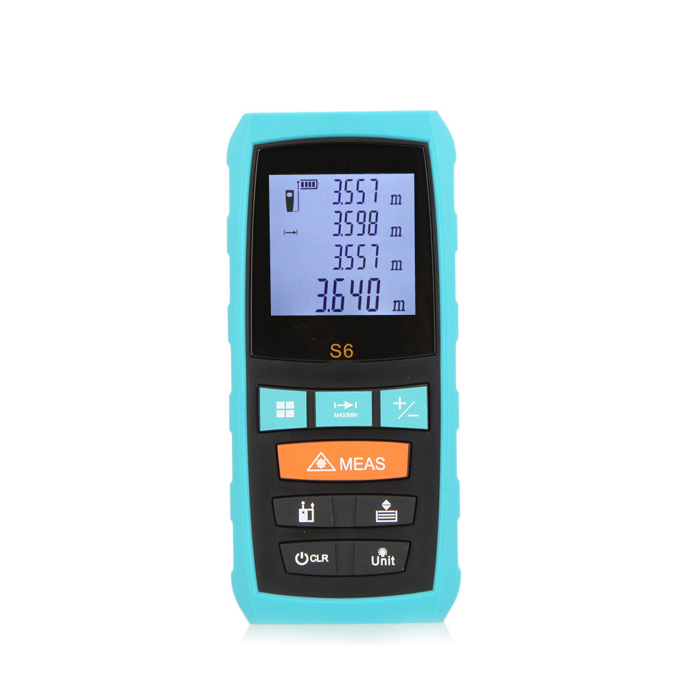 Hot Sale High Accuracy Precision Laser Rangefinders S6 60M Digital Laser Distance Meter S6-60 Distance Measuring Instrument high quality southern laser cast line instrument marking device 4lines ml313 the laser level
