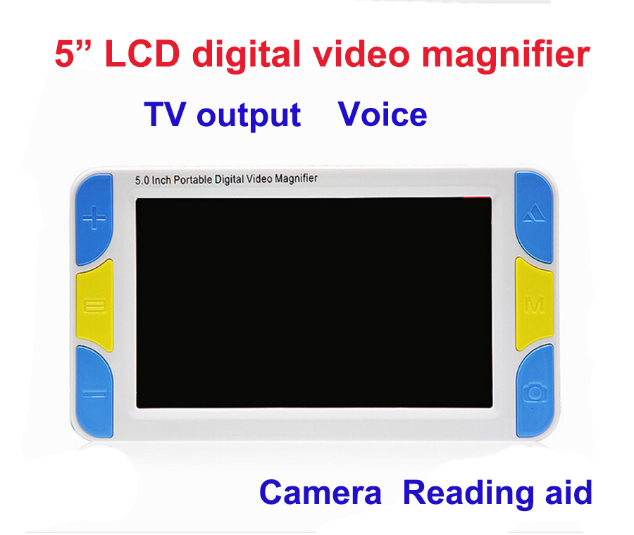 Low Vision 5 LCD Handheld Video Magnifier Reading magnifier Aid Digital Video Magnifier electronic microscope