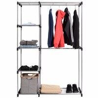COSTWAY Clothes Hanger Coat Rack Garment Racks Floor Hanger Storage Wardrobe Clothing Drying Racks For Home Furniture HW56835
