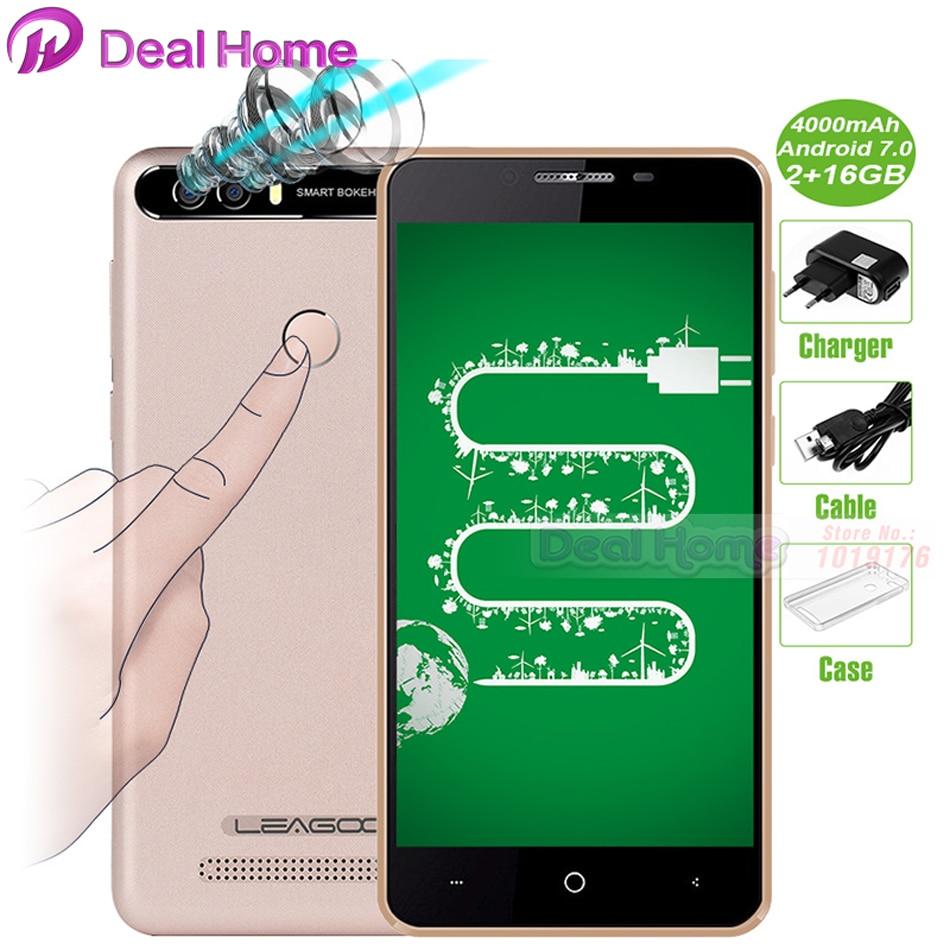 "bilder für Leagoo Kiicaa Power Handy 4000 mAh 5,0 ""HD Android 7.0 MT6580A 2 GB RAM 16 GB ROM 8MP Doppelkameras Fingerabdruck 3G Smartphone"