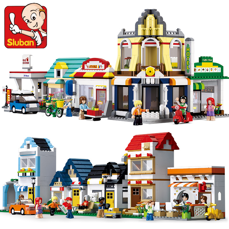Sluban Blocks Urban Business District Architecture Compatible All Brand Building Blocks DIY Bricks Children DIY Toy For Children otem moyong district industries centres dics gateway to small business