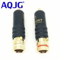 100pcs DHL or EMS Free High Quality RCA Connector Male WBT 0144 Signal Line RCA Plug Lotus Head Copper Plug Gold Plated