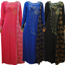 2016 Plus Size Muslim Abaya Dress Islamic Clothing for Women High Quality Embroidery Muslim Abaya Islamic Kaftan Dubai Dress