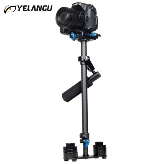 DHL Free YELANGU S60T Steadycam Scalable Carbon Fiber Handheld Stabilizer For Steadicam For Canon / Nikon D3300 DSLR Camera