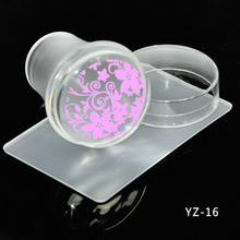 Best Price Hot NEW 4cm XL Clear Silicone Marshmallow Jelly Nail Stamper with Cap Art & Scraper, #YZ016