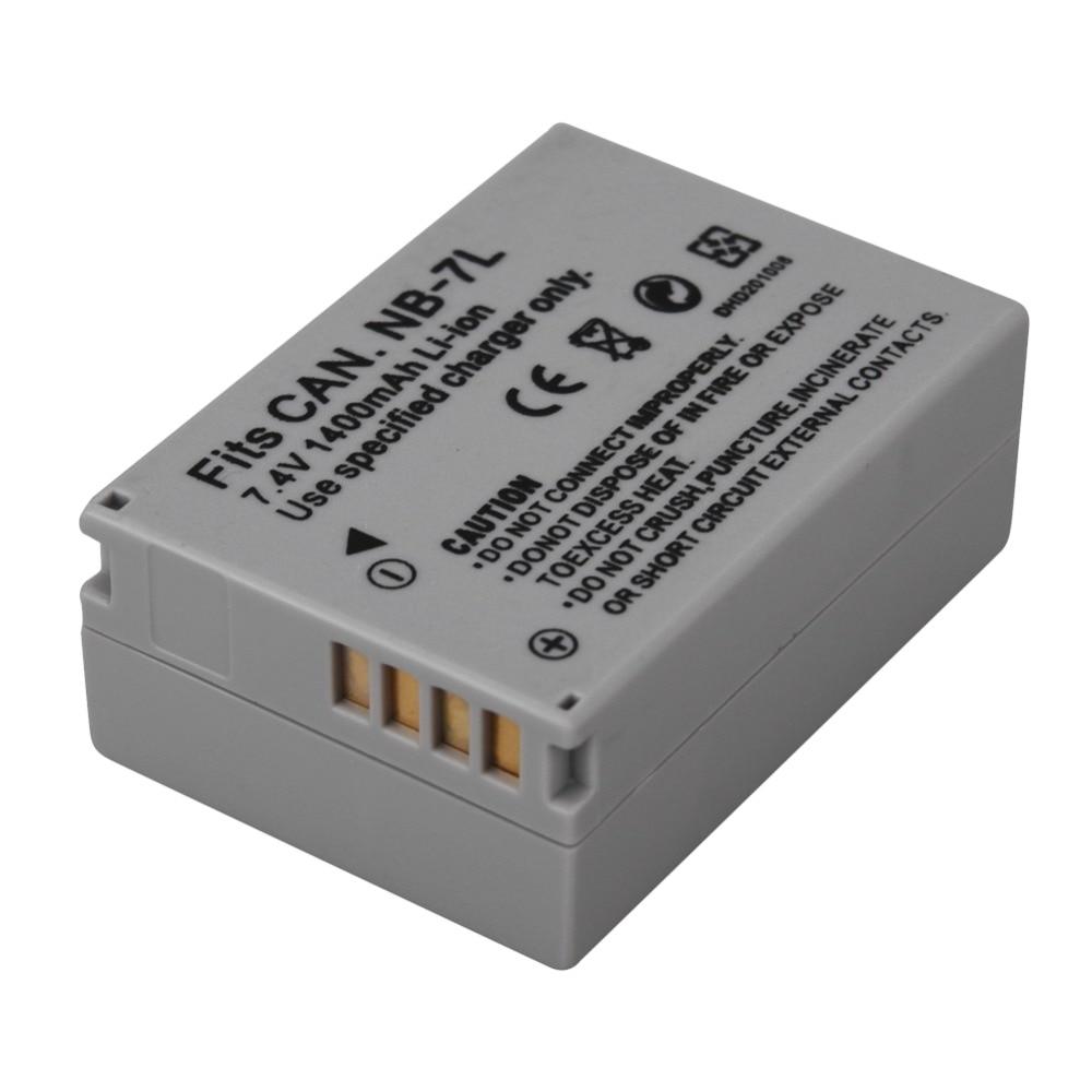 1 Pcs 1400 mah NB-7L NB 7L NB7L Bateria Para Canon PowerShot G10 G11 G12 SX30 SX30IS Câmera Baterias