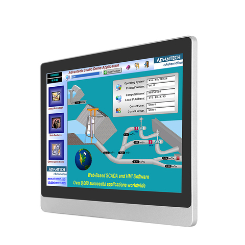 tela de toque do computador industrial incorporado