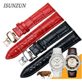 ISUNZUN Women's Watch Strap For Tissot 1853 Haozhi Series T086.207 Watchband With 18MM T086 Leather Watch Strap