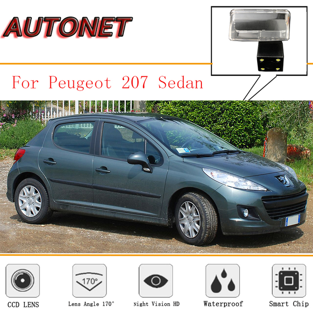 AUTONET Rear View Camera For Peugeot 206 Peugeot 207 Sedan CCD/ Backup Parking Camera/ 4LEDS/Night Vision/ License Plate camera