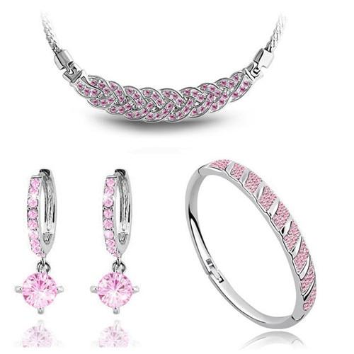 AAAA + steentjes twist ketting oorbel armband mode-sieraden sets - Mode-sieraden - Foto 3