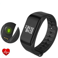 Free Shipping F1 Smart Wristbands 2017 Sports Smartband Heart Rate Monitor SmartWatch For Android IOS Phone