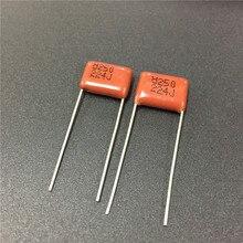 50 adet CBB 224 250V 224J CL21 0.22uF 220nF P10 metalize polipropilen Film kapasitör
