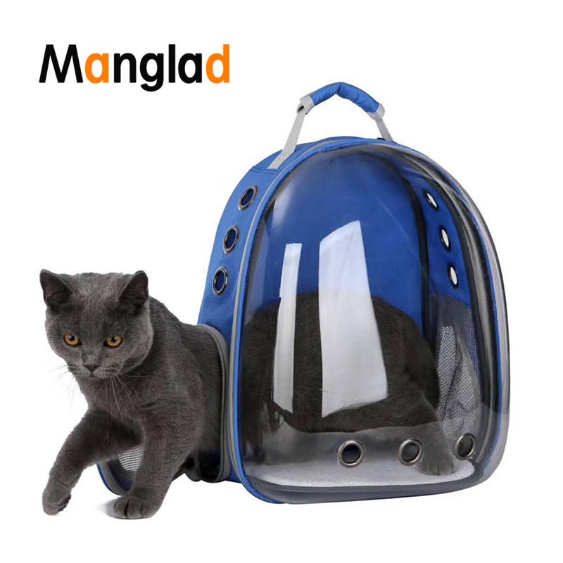 Manglad Large Space Breathable Portable Pet Carrier Bag Outdoor Travel puppy cat bag Transparent Space Pet Backpack Capsule(China)