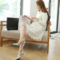 2016 Spring Summer Lace Dress for Pregnant Women Long Sleeve Maternity Dress for Pregnancy Plus Size Clothes