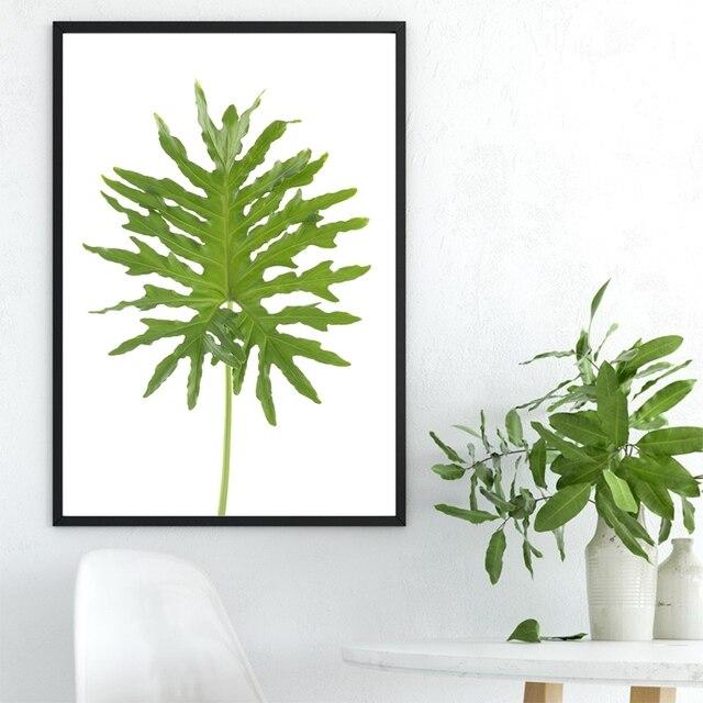 Große Grüne Fern Blätter Kunstdrucke Leinwandmalerei Wand Poster ...
