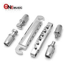 EEN Set Chrome String Brideg Zadel Tune-O-Matic Brug Staartstuk voor GB LP Stijl Elektrische Gitaar