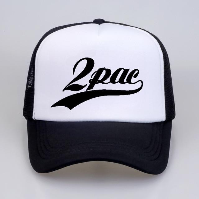 977ac4da4df 2Pac Makaveli Tupac Shakur Baseball Caps Rapper 2Pac Hiphop Summer Cool Cap  Thug Life Baseball Mesh