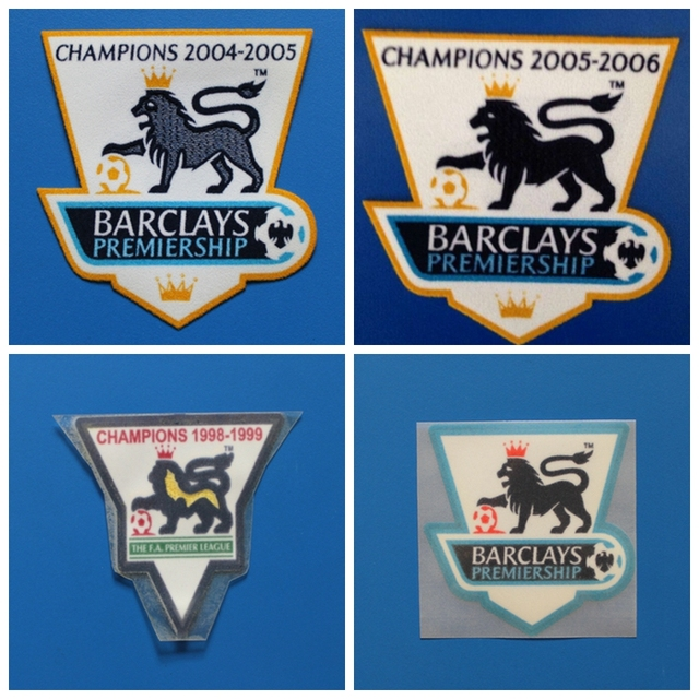 fe14cdfdac3 2PCS Retro premier league champion 1997 1998 1999 01 2003 2004 2005 2006 patch  football Print