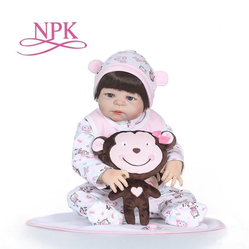 NPK 56 cm corps complet Silicone reborn bébé poupée chaude ToyReborn poupées enfant jouets mignon princesse poupées à monter soi même garçon fille Brinquedos cadeaux-in Poupées from Jeux et loisirs    1