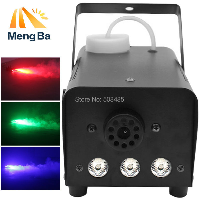 Mini 400W LED RGB Wireless Remote control fog machine pump dj disco smoke machine for party wedding Christmas stage LED fogger 2pcs lot shehds mini 400w rgb 3in1 smoke machine for dj disco party weedding stage fogger machine wireless remote control