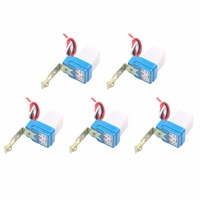 5pcs 10A Photoswitch Sensor Switch Auto On Off Photocell Street Light Control AC DC 12V 24V
