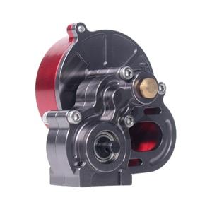 Image 4 - Полный металлический Коробка передач INJORA SCX10 коробка передач с шестерней для 1/10 RC Crawler Axial SCX10 обновленные детали для радиоуправляемых автомобилей