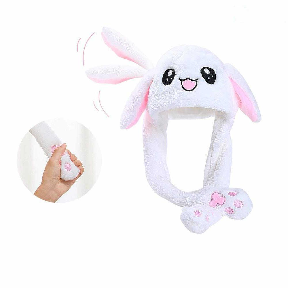 Насосные уши движущиеся кроличья шляпа прыжки шапочка кролика Ins вечерние подвижная шляпа сияющая Принцесса Корона Рождество Дети День рождения