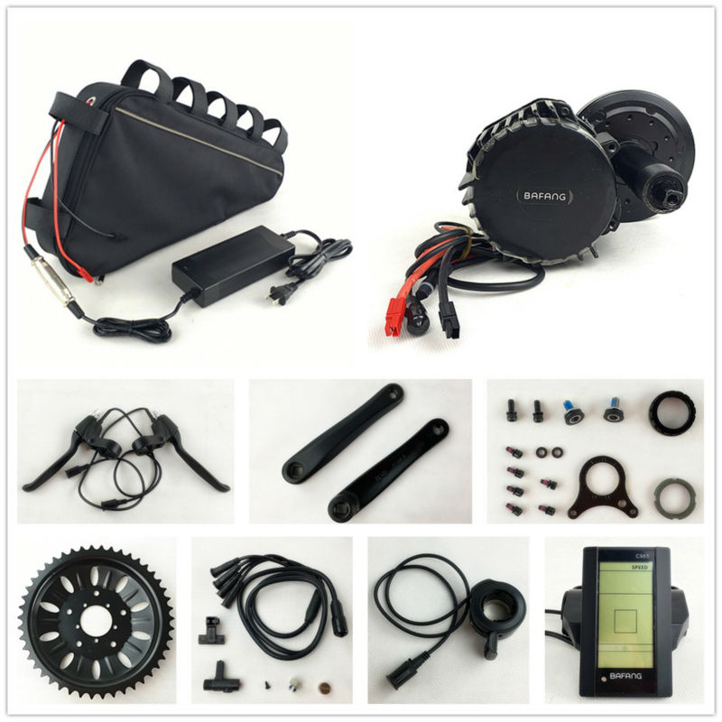 Bafang 8fun 48 В 1000 Вт BBSHD Электрический Велосипед BBS03 середине диска двигателя комплекты с 48 В 20AH треугольник батареи для Электрических Жира eBike