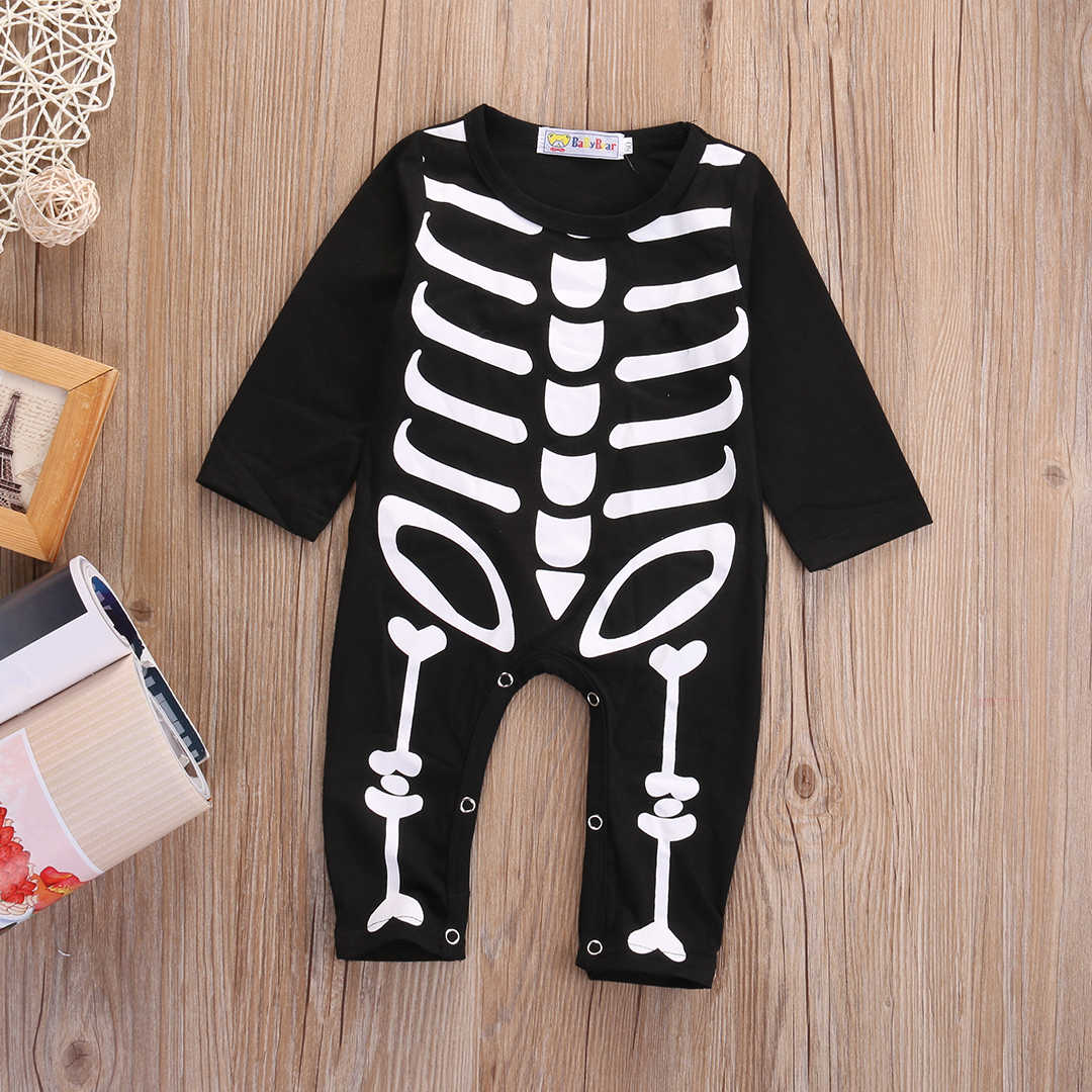 7c69981171bd Detail Feedback Questions about 2018 Halloween Newborn Baby Boy Girl  Skeleton Rompers Long Sleeve Jumpsuit Clothes Outfit Costume cosplay on  Aliexpress.com ...