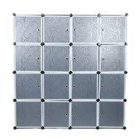 Многоцелевой современный шкаф для хранения лучший пластиковый 16 куб шкаф для одежды водостойкий органайзер для одежды DIY сборка 140*140*35 см