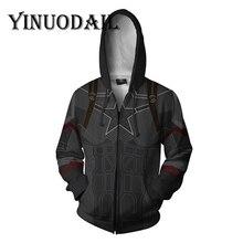 Men and Women Zip Up Hoodies The Avengers Endgame 3D Hooded Jacket Captain America Sweatshirt Streetwear Marvel Cosplay Costume