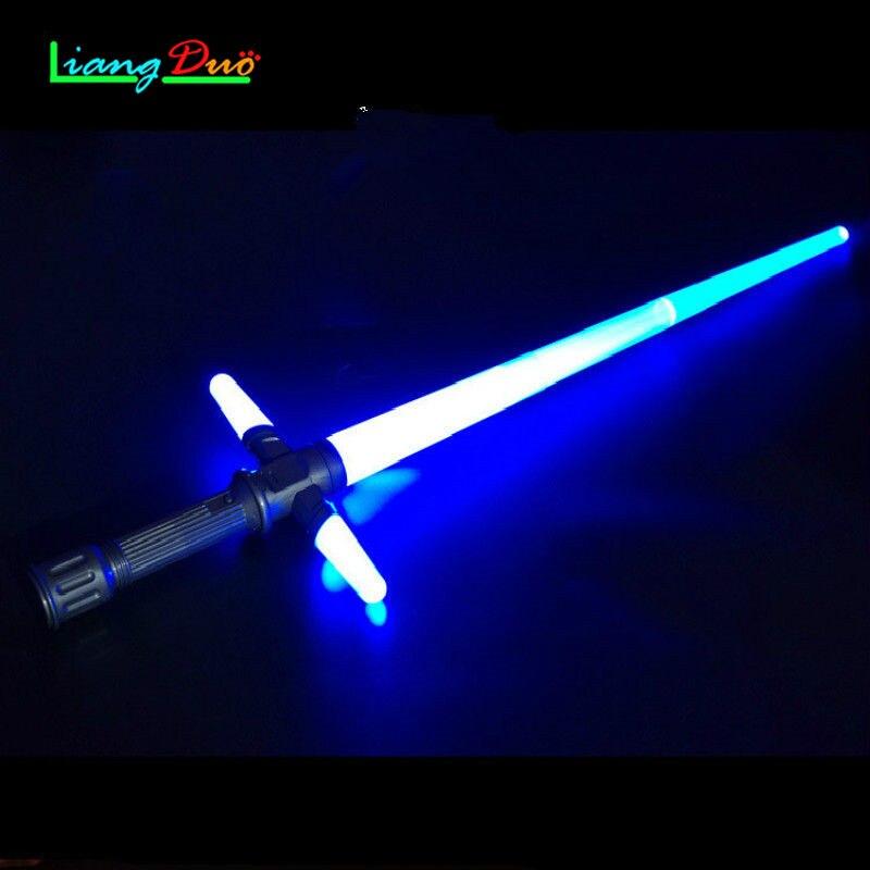 ᗐМальчик Игрушечные лошадки световой меч Звездных Войн лазерный меч ... 3d5ead9b0b5