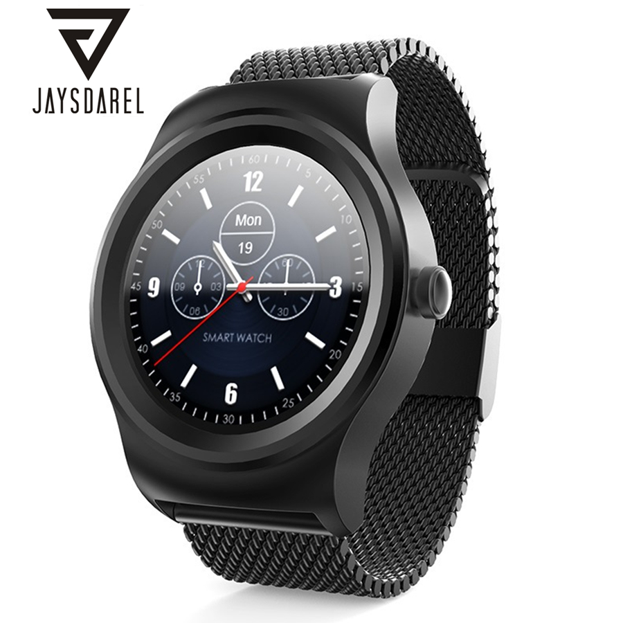 JAYSDAREL Heart Rate Monitor Smart Watch SMA-R Siri Voice Control Pedometer Bluetooth Bracelet Smart Wristwatch for Android iOS sma r dual bluetooth smart watch