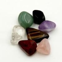 Amethyst Rose quartz Red Jasper Black obsidian Green aventurine Clear crystal Tiger eye Tumbled Stone Beads Chakra Healing Reiki