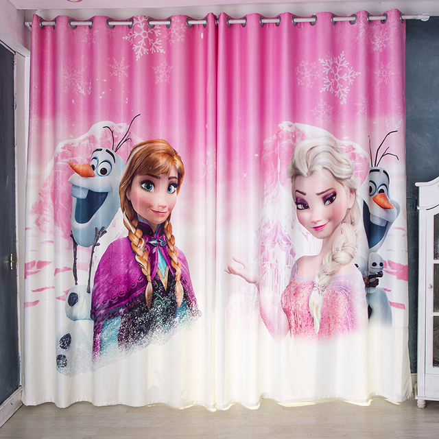 Window Curtain for Living Room Children Cartoon Frozen Printed ...