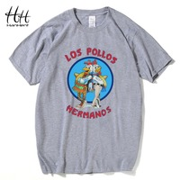 HanHent Los Pollos Hermanos T Shirts Chicken Brothers Man T Shirts Sitcoms Summer Style Cotton Shirts
