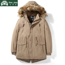 Brand New Winter Jacket Men Casual Solid Thick Warm Windproof Hooded F