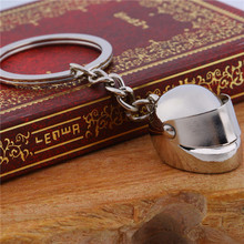 1pc Creative Helmet Key Chain Zinc Alloy Motorcycle Casque Keychain Men And Women Key Ring Trendy Keyring For Car Purse Bag Gift