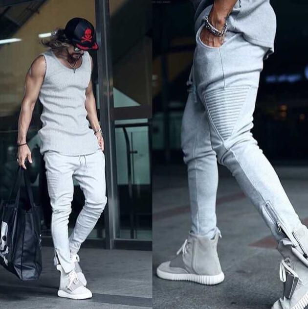 b9cd263774f2ac New fashion side zipper mens hiphop biker joggers harem pants men swag  sport outdoor cargo sweatpants mens fashion casual pant
