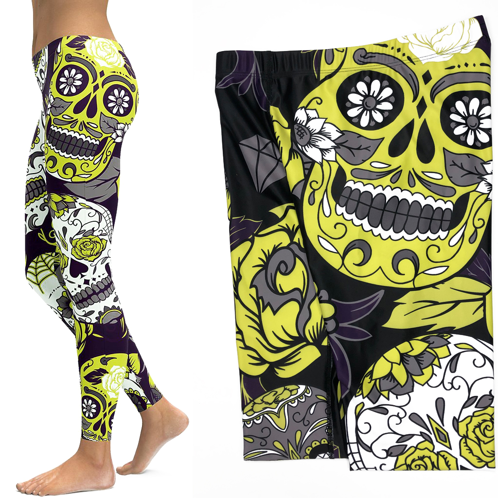 Skull Leggings Yoga Pants Women Sports Pants Fitness Running Sexy Push Up Gym Wear Elastic Slim Workout Leggings 6