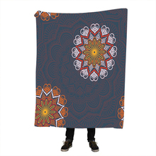 Dreamcatcher Sherpa Throw Blanket Bohemian Mandala Fleece on the Bed Sofa Colorful Plaid Bedspread