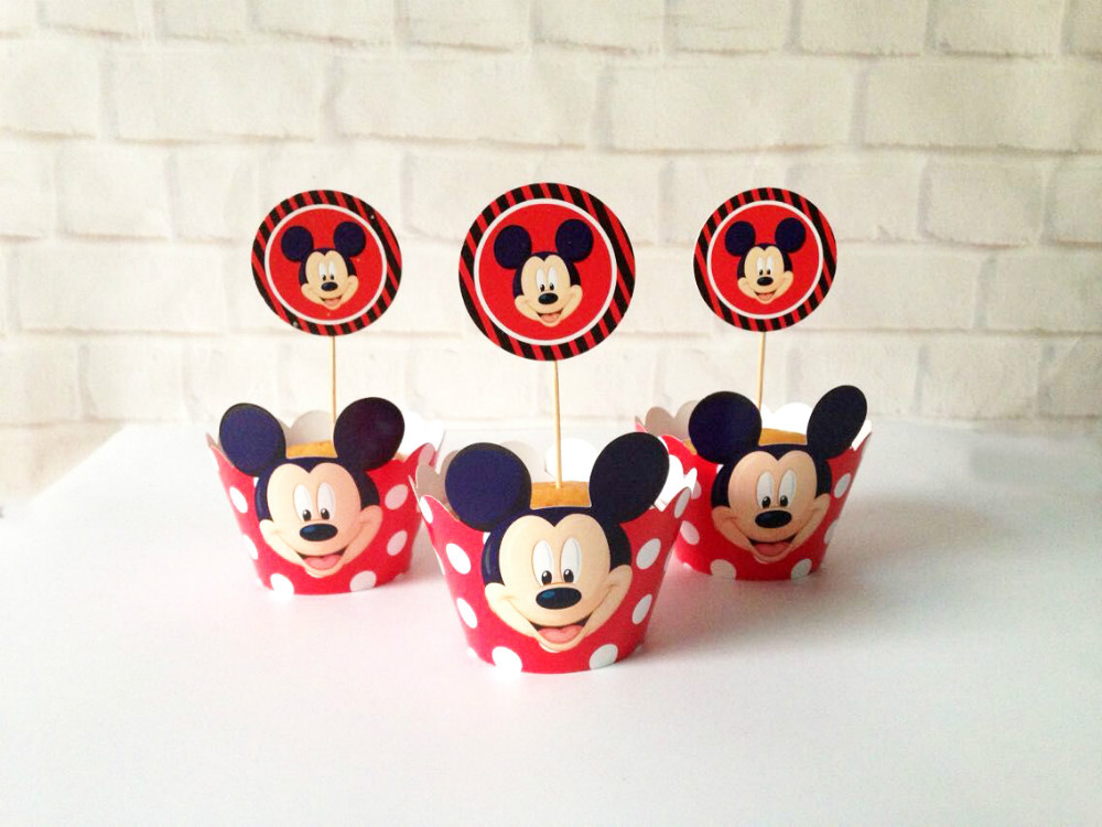 Mickey Mouse Party Supplies Baby Shower Favors Cupcake Cases Cupcake