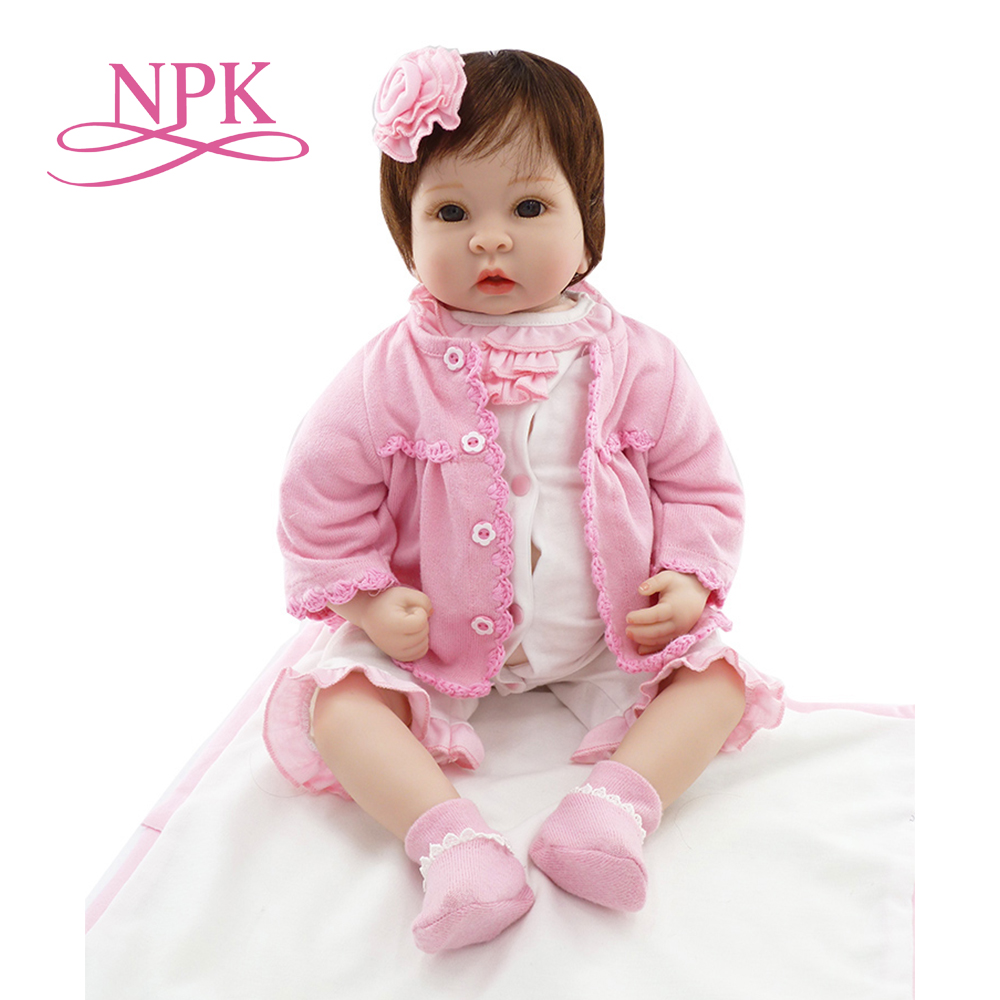 NPK 22 New Silicone vinyl adora Lifelike toddler Baby Bonecas girl kid doll bebe reborn menina de silicone toys for children