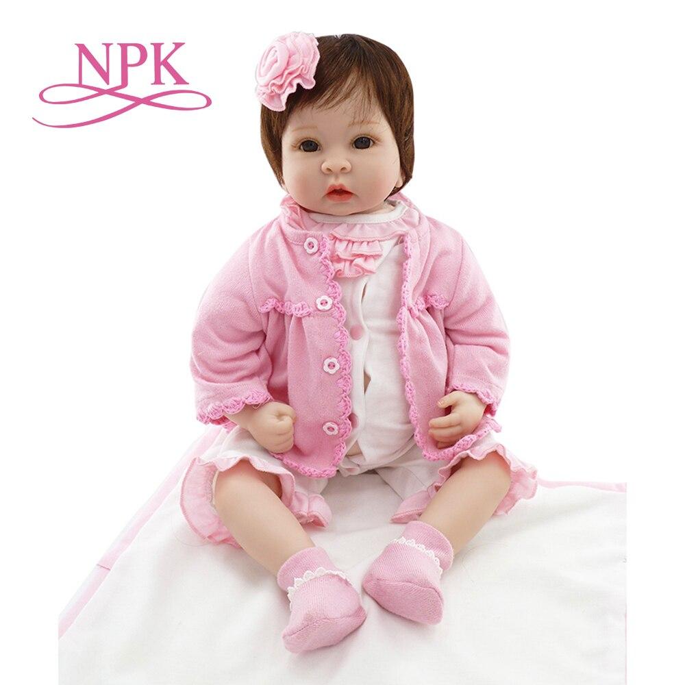 """Oyuncaklar ve Hobi Ürünleri'ten Bebekler'de NPK 22 """"Yeni Silikon vinil adora Gerçekçi yürümeye başlayan Bebek Bonecas kız çocuk bebek bebes reborn menina de silikon oyuncaklar çocuklar için'da  Grup 1"""