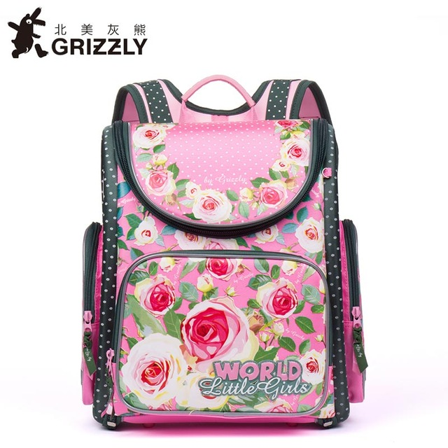 Russian Style Children School Bags Flower Printed Nylon Waterproof Orthopedic Girls Backpack Kids Schoolbag Mochila Infantil чемодан большой l verage travel gm16036w28 gm16036w28 opal