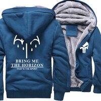 BRING ME THE HORIZON Letter Print Men S Sportswear 2017 Winter Fleece High Quality Hoodies For