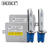 HCDLT 1 Set 55W H1 H7 H11 9005 9006 HB3 HB4 D2H Car Light Xenon HID Kit AC 12V F5 Fast Start Ballast 5500K Auto Headlight Bulb
