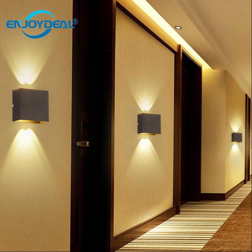 Modern 220V COB LED Wall Lamp 6W Aluminnum Square Wall ... on Contemporary Wall Sconces Lighting id=78273