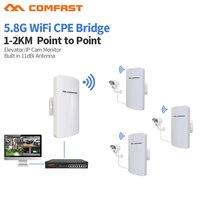 2Pcs COMFAST CF E120A 300Mbps 5 8Ghz Outdoor Mini Wireless AP Bridge WIFI CPE Access Point