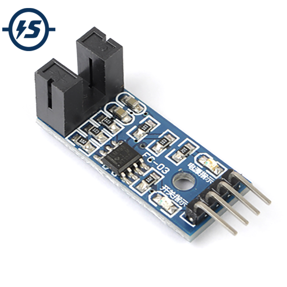 10pcs 3.3V-5V Counter Speed Measurement Module Motor Speed Test Module Slot Optocouple Pulse Detector